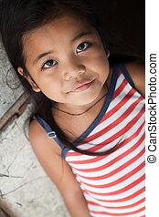 肖像画, 女の子, philippine, かなり