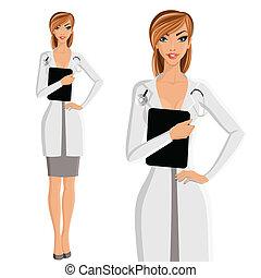 肖像画, 女性の医者