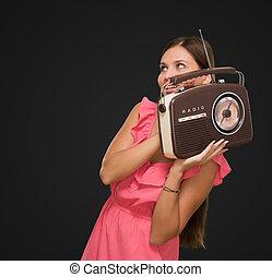 肖像画, 女, ラジオ, 保有物, 幸せ