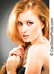 肖像画, 女, red-haired