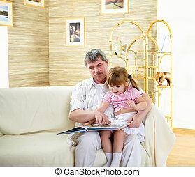 肖像画, 孫娘, 祖父