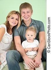 肖像画, 家族, ソファー