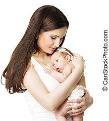 肖像画, 家族, 母, 新生, 生まれる, お母さん, 包含, 赤ん坊, 新しい子供