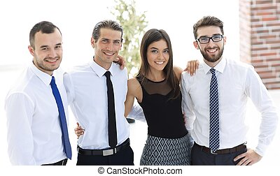 肖像画, 専門家, クローズアップ, ビジネス チーム