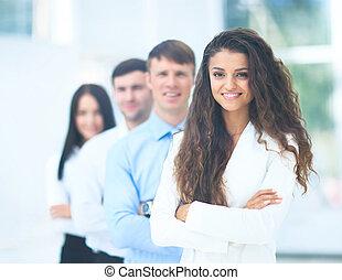 肖像画, 専門家, グループ, ビジネス, チーム