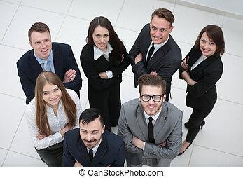肖像画, 専門家, ビジネス, チーム
