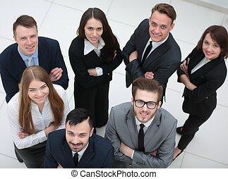 肖像画, 専門家, ビジネス チーム