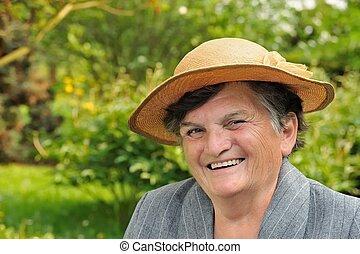 肖像画, 年長の 女性, -