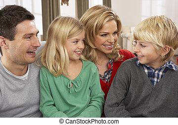 肖像画, 幸せな家族, 家