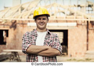 肖像画, 建築作業員