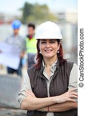 肖像画, 建設, 労働者