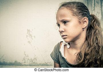 肖像画, 悲しい子供