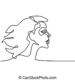 肖像画, 抽象的, 女