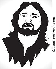 肖像画, 抽象的, 芸術的, イエス・キリスト