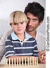 肖像画, 父, 息子