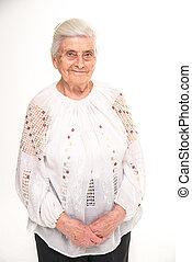肖像画, 祖母。, close-up.
