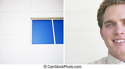肖像画, 窓, ビジネス