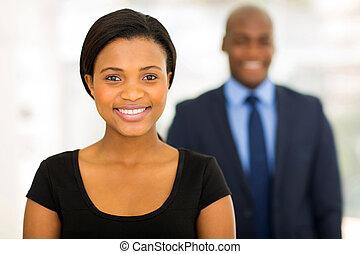 肖像画, 終わり, アフリカ, の上, 女性実業家