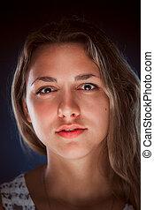肖像画, 美しさ, 女, 若い