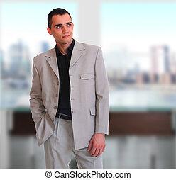 肖像画, 若い, ビジネスマン