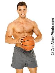 肖像画, 若い, マレ, バスケットボール選手