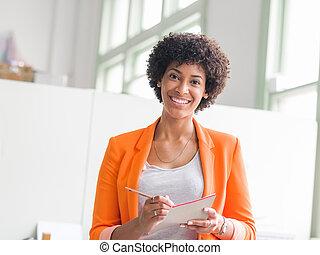 肖像画, 若い, 女性実業家