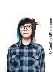 肖像画, 選択肢, ニュートラル, 女の子, 若い