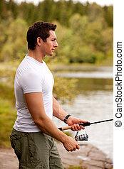 肖像画, 釣り