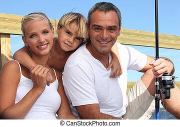 肖像画, 釣り, 家族