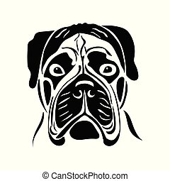 肖像画, bullmastiff, 品種, 犬