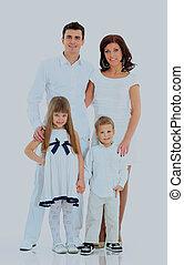 肖像画, family., 幸せ