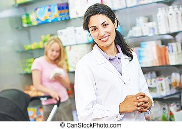 肖像画, pharmacutical, 化学者