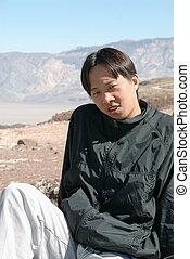 肖像, 年轻, man., 亚洲人