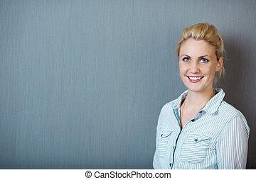 肖像, ......的, 微笑, 白膚金發碧眼的人, 婦女