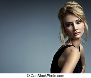 肖像, ......的, 美麗, 微妙, 婦女