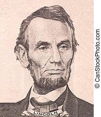肖像, ......的, 首先, 美國, 總統, 亞伯拉罕lincoln