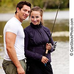 肖像, 釣魚