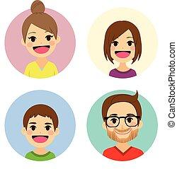 肖像, avatar, 家庭