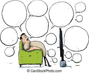 肘掛け椅子, 批評家
