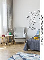 肘掛け椅子, 明るい, 保温カバー, 寝室