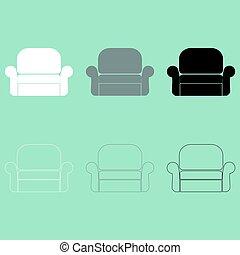 肘掛け椅子, 椅子, icon., 容易である, ∥あるいは∥