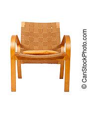 肘掛け椅子, 白, はたを織った, 藤, 背景