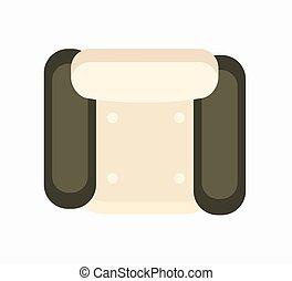 肘掛け椅子, 白, ベクトル, 黒, イラスト