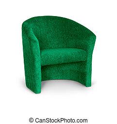 肘掛け椅子, 白, 緑