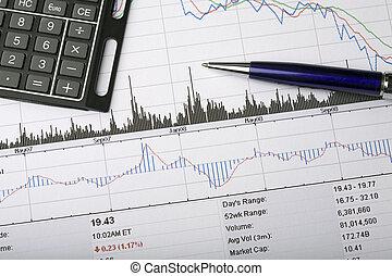 股票价格, 图表, 分析