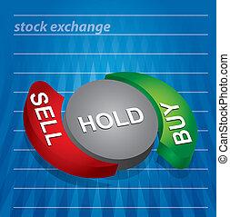 股票, 图表, 交换