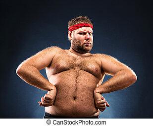 肥胖的人, 模仿, 肌肉建造