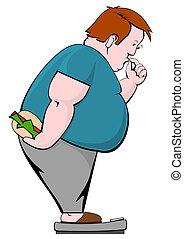 肥胖的人, 由于, burger