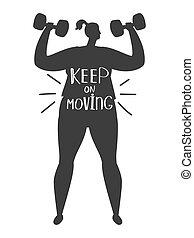 肥胖, 训练, 妇女, 侧面影象