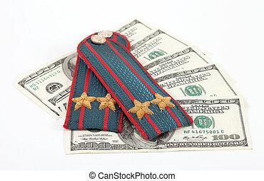 肩ベルト, の, ロシア人, 警察, そして, お金